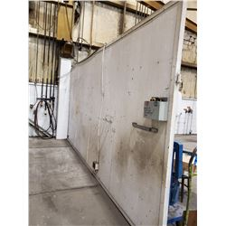 GREY AND WHITE DIVIDER WALL 195 L X 96