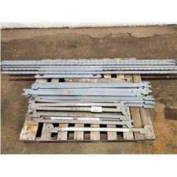 PALLET OF SHELVING UPRIGHTS, AND CROSS BRACES