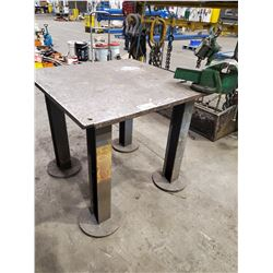 """HEAVY DUTY WORK TABLE WITH RECORD NO#5 VISE 40L"""" X 40W"""" 35""""H"""
