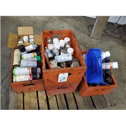PALLET OF ASSORTED POWER WELD, LOCTITE MOLY LUBE AND MORE