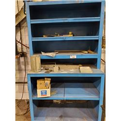 BLUE METAL STORAGE CABINET 48 L X 27 D X 87 H