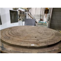 """12' DIAMETER VERTICAL LATHE WORK TABLE 2-1/2"""" THICK"""