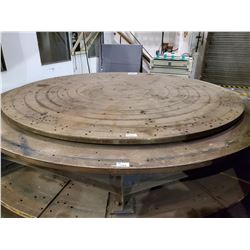 """14' DIAMETER VERTICAL LATHE WORK TABLE WITH LEGS 20-1/2"""" IN HEIGHT 2-1/2"""" THICK"""