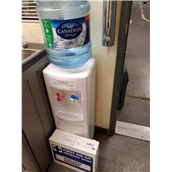 WATER COOLER, AND FIRST AID KIT