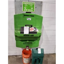 EMERGENCY EYE WASH STATION, AND OXYGEN SUPPLY TANK WITH CASE