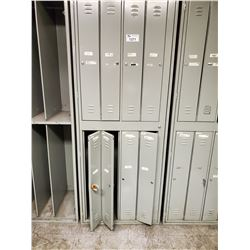 BAY OF GREY METAL 8 DOOR LOCKERS (NO KEYS INCLUDED)