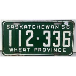 SK Licence Plate 1956
