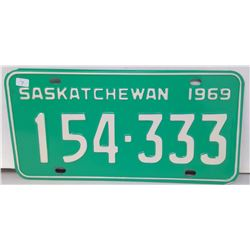 SK Licence Plate 1969