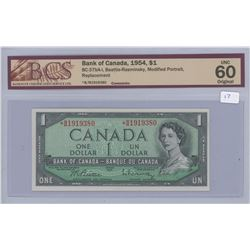 1954 - $1.00 Bill MS60 - BCS Graded