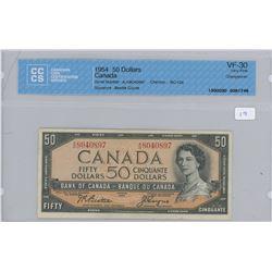 1954 - $50.00 - VF 30 - CCCS