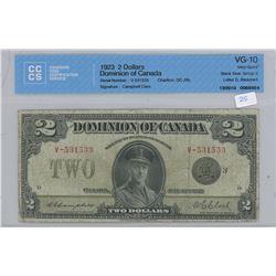 1923 - $2.00 Bill - VG10 - CCCS Graded