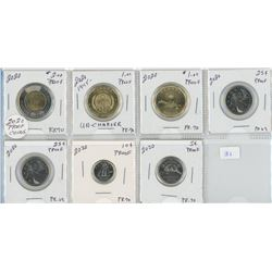 2020 Proof Coins - 7 Coins