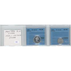 1967 - 25c  and 1943 - 10c - CCCS