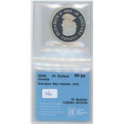 2006 - $20.00 - PF69 - CCCS