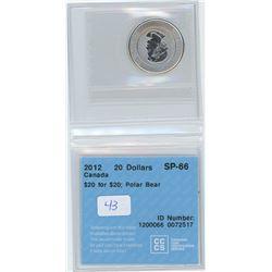 2012 - $20.00 - SP66 - CCCS