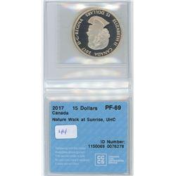 2017 - $15.00 - PF69 - CCCS