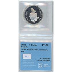 2003 - $1.00 Coin PF68 - Silver