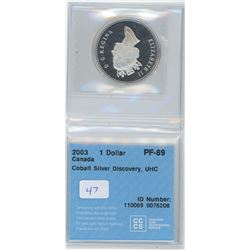 2003 - $1.00 - PF69 - CCCS - Silver