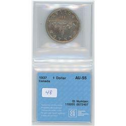 1937 - $1.00 - AU55 - CCCS