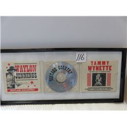 Waylon Jennings - Tammy Wynette vintage country CD in frame