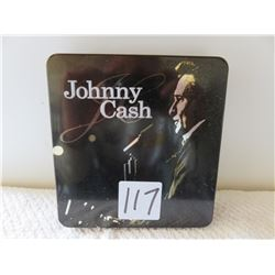 "Johnny Cash collectors CDs 'The pride of Jesse Hallam"" story booklet in metal box"