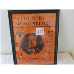 Original Johnny Cash report spotlighting Johnny Cash at Hollywood bowl 1963