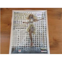 "Mariah Carey tour poster - ""adventures of Mimi"" North American tour 12 X 15"""