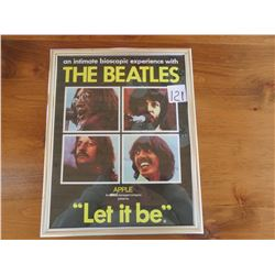"The Beatles 'let it be' poster 12"" X 15"""
