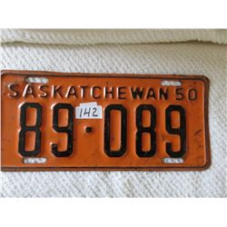 1950 Saskatchewan license plate