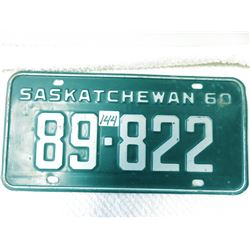 1960 Saskatchewan license plate