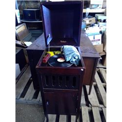 "Antique Melmore Record Player 36""hx18wx17.5d"