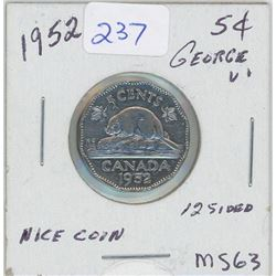 1952 - 5c - 12 sided
