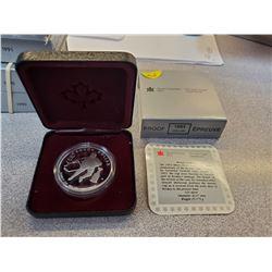 1993 RCM sterling silver dollar