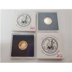 2 X 92.5% silver 10¢ 500th anniversary John Cabot voyage