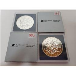 2 X 1994 B.U. Canadian silver dollars