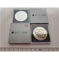1992 & 1994 B.U. Canadian silver dollars