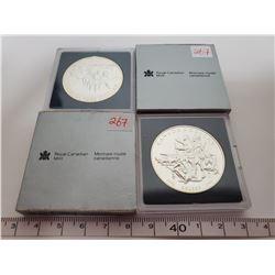 1990 & 1992 B.U. Canadian Silver dollars
