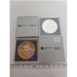 1987 & 1988 B.U. Canadian silver dollars
