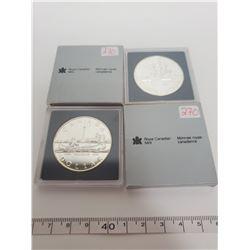 1987 & 1984 B.U. Canadian silver dollars