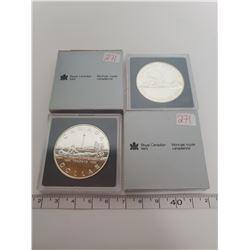 1986 & 1984 B.U. Canadian silver dollars