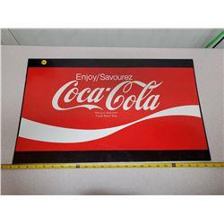"""Steel Coca-Cola sign 25"""" x 15"""""""