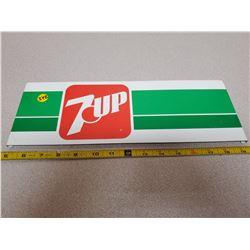 "Vintage 7-Up tin sign 14"" X 5"""