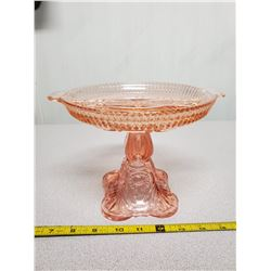 2X Pink depression glass