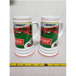 2X pilsners mugs (ceramic)