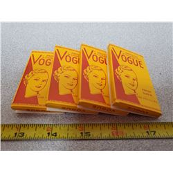4 NOS vintage vogue rolling papers