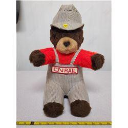 """CN rail stuffed bear 16"""" tall"""