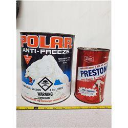 2 Antifreeze cans, Canadian Tire Firestone