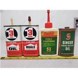 4 vintage handy oilers