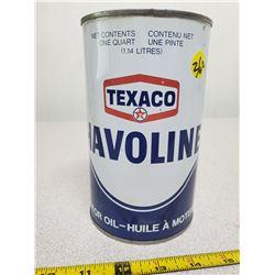 full Texaco oil qt. can