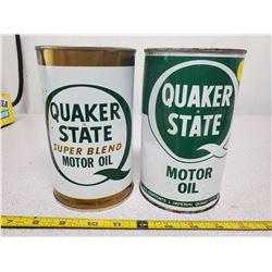 2 full Quaker State qt. cans